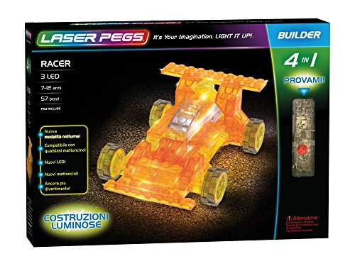 Laser Pegs 41011Racer in Building Set (Car Modell Race Kits)