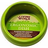 LIVING WORLD Ergonomischer Nagernapf klein grün