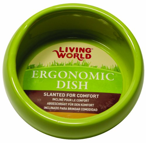 Living World Gamelle Ergonomique Hamster et Gerbille Vert 120 ml