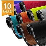 etm® - Alfombra de entrada absorbente interior y exterior | resistente, lavable y de color, gris