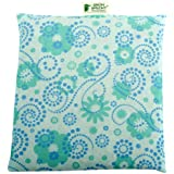"""Cherry Stone Pillow""""Your Natural Hot Water Bag"""" 22 x 24 cm (Blue)"""
