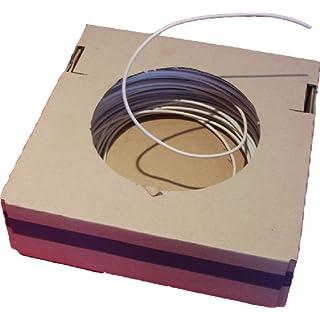 0,14€/Mtr H5V-U 1 qmm weiß Aderleitung (100 Meter) für Leuchten / EVGs / Fassungen