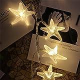 Hivexagon Striscia luminosa 4.5m 30 LED a forma di stella marina alimentazione a batterie (bianco caldo) HA004