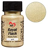 Royal Flash, Acryl-Farbe, metallic, mit feinsten Glitzerpartikeln, 50 ml (gold)