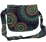 Guru-Shop Schultertasche, Hippie Tasche, Goa Tasche - Schwarz, Herren/Damen, Baumwolle, Size:One...