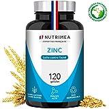 ZINC Citrate - Traitement de l'acné - Soutient le système immunitaire - 120 gélules végétales apportant 12.5 mg de Zinc élément (Zn) - Haute absorption - Fabriqué en France...