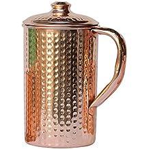 Cobre puro martillado jarra de agua   cobre jarra para beneficios Ayurveda salud por healthgoodseu