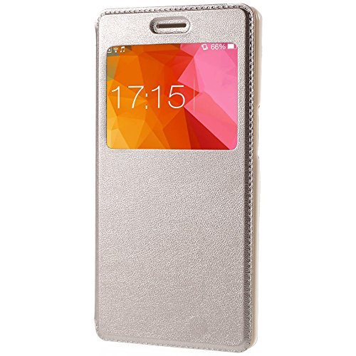 Clorox High Quility Perfect Fitting Flip Cover For Coolpad Cool 1 Dual (Gold)