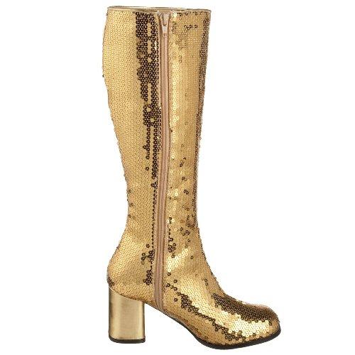 spectacul Bordello Sequins stivaletti da Gold 300sq vw7Aqfwx4