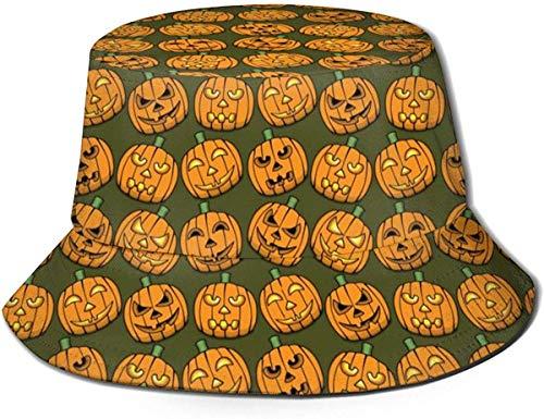 Xarchy cappello da pescatore unisex zucche di halloween volti cappello da sole per esterno con stampa artistica cappello estivo da viaggio nero