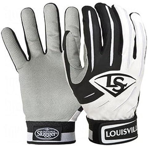 Louisville Slugger-Guanti da battitore BG serie 5, colore: bianco/nero, taglia: L