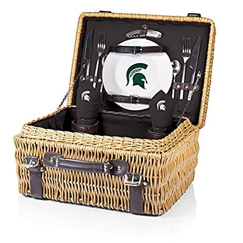 NCAA Michigan State Spartans Champion Picnic Basket with Deluxe Service