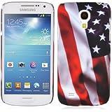 Cadorabo - Hard Cover Protección para Samsung Galaxy S4 MINI (I9195) - Case Cover Funda Protectora Carcasa Dura Hard Case en Diseño 'BANDERA DE LAS BARRAS Y LAS ESTRELLAS'