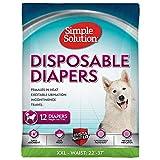 simple solution Hundewindeln für weibliche Hunde, sehr saugfähig mit Nässeindikator, 12 oder 30 Einweg-Windeln pro Packung, 12 mal, XXL/Jumbo