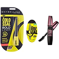 Maybelline New York Colossal Bold Eyeliner, Black, 3g And Maybelline New York Colossal Kajal, Black, 0.35g And…