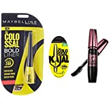 Maybelline New York Colossal Bold Eyeliner, Black, 3g And Maybelline New York Colossal Kajal, Black, 0.35g And Maybelline New