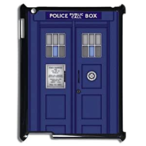 Popular Doctor Who Tardis Police Call Box Designed Black Hard Case for Ipad 2/3/4