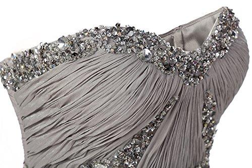Dresstells, Robe de soirée Robe de cérémonie Robe de gala mousseline bustier en cœur longueur ras du sol avec paillettes Pourpre