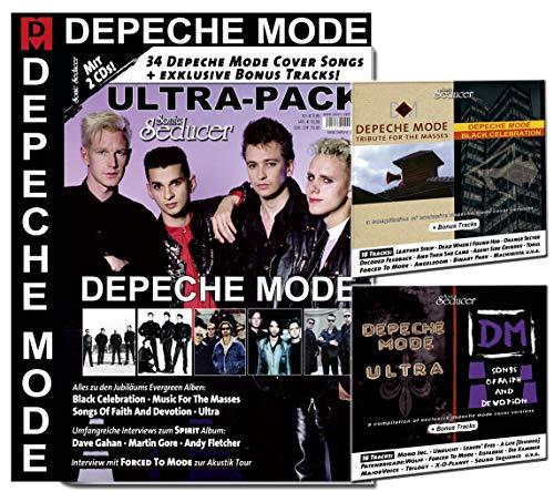 """DEPECHE MODE Ultra-Pack: 34 Cover Songs & exkl. Bonustracks auf 2 CDs + alles zu Music For The Masses + Black Celebration + Ultra + SOFAD & ... zum Album \""""Spirit\"""" + Forced To Mode"""