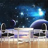 Guyuell Moderne Custom 3D Geprägte Wandbild Tapete Für Wand Universum Weltraum Planeten Helle Fotowand Papier Raum Dekor Sofa Kulisse-250Cmx175Cm