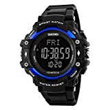 #9: SKMEI 1180 Heart Rate Monitor Sensor Digital Smart Waterproof Sport Watch Blue Colour with Health Activity Fitness Tracker Pedometer, Calories and Distance Calculator