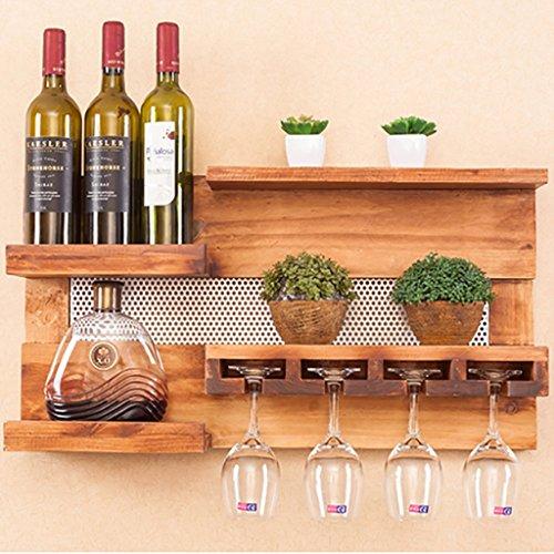 (Kreative Wand-Holzregale, an der Wand befestigte Wein-Zahnstangen, Esszimmer-Wand-Dekorations-Regale -Weinglasgestell)