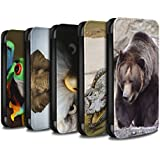 STUFF4 PU-Leder Hülle/Case/Tasche/Cover für Apple iPhone X/10 / Multipack (20 Pck) Muster / Wilde Tiere Kollektion