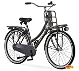Hooptec Damen Hollandrad 28 Zoll Hoopetec Urban Transportfiets Slategrau 2019
