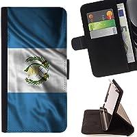FJCases Guatemala Guatemalteco Bandera Ondeante Carcasa Funda Billetera con Ranuras para Tarjetas y Soporte Plegable para