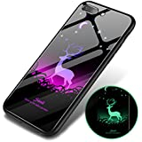 Bangcool IPhone 7 Plus Case Glow In The Dark Hard Shell Tempered Glass Cell Phone Case For IPhone 7 Plus/8 Plus