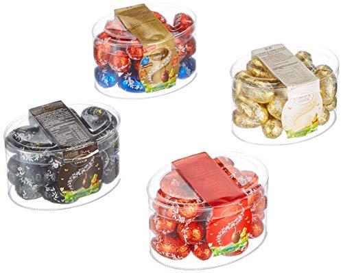 Lindt Lindor Schokoladen Eier Mischung, 4 Sorten Ostereier (Vollmilch, Weiß, Dunkel Haselnuss) Schokoladen Großpackungen, 1800 g