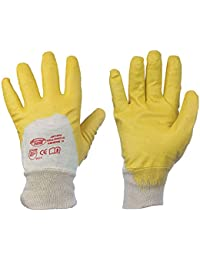 Nitrile Gants de Yellow nitrile (Pack de 12) 10, jaune