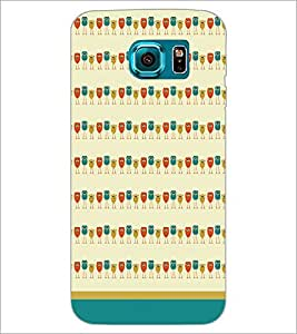 PrintDhaba Owl Pattern D-1702 Back Case Cover for SAMSUNG GALAXY S6 EDGE (Multi-Coloured)