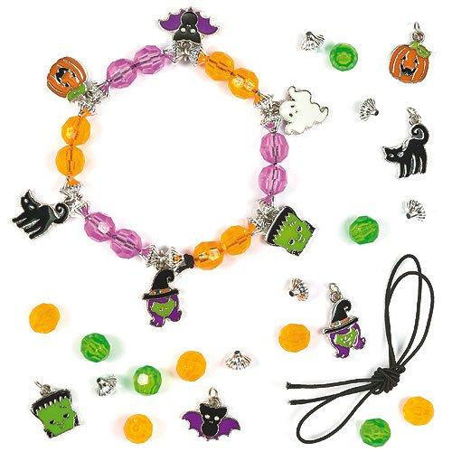 Bettelarmband-Bastelsets Halloween für Kinder zum Basteln und als tolle Accessoires (3 (Halloween Kostüme Baker)