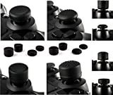 Gizmoz n Gadgetz 8 x Soft Rubber Thumb Grips Black Thumbstick Joystick Extra High Enhancements Cover Caps Skin For Sony Play Station 4 PS4 PS3 Xbox 360 XBOX One