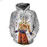 T-shirt da uomo T-shirt a maniche lunghe con stampa 3D Pullover con cappuccio Felpa Top Camicia Camicetta Dragon Ball Sezione sottile Abbigliamento uomo Primavera Autunno ( Colore : 1 , Dimensione : XL )