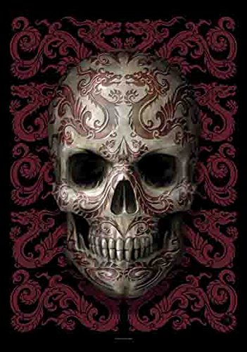 Skull drago teschio simbolo di-Bandiera Poster 100%...