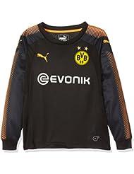 Puma BVB GK–Camiseta, Otoño-invierno, infantil, color Puma Black-Fluo Orange, tamaño 116