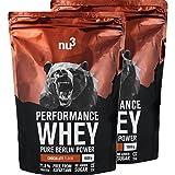 nu3 Performance Whey Protein | Chocolate Blend | 2kg Proteinpulver | Voller Schokoladen-Geschmack | Eiweißpulver mit guter Löslichkeit bei hohem Proteingehalt