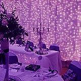 Lichterketten, 300 Led Lichterketten, USB Weihnachtsbeleuchtung for Bühne Bankett Bar Weihnachten (Color : Purple)