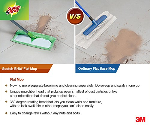 Scotch-Brite-Flat-Mop-and-refill-combo-for-Magic-Easy-floor-cleaning