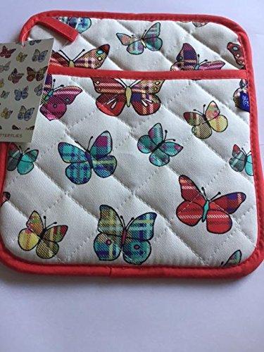 Tartan Butterflies Pot Mitt -
