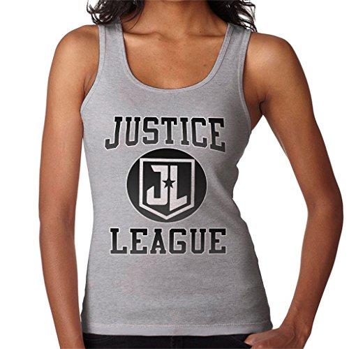 Justice Leage JL Logo Women's Vest Heather Grey