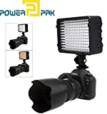Powerpak Led-168 A Metal Hot Shoe Mount LED Dimmable Ultra High Power Panel Digital Camera / Camcorder Video Light, LED Light for Canon, Nikon, Pentax, Panasonic,SONY, Samsung and Olympus Digital SLR Cameras