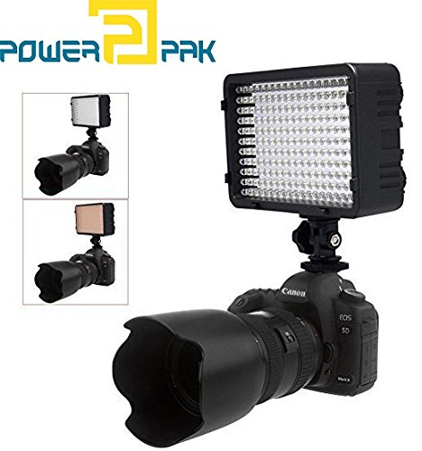 Powerpak Led-168 A Metallic Scorching Shoe Mount LED Dimmable Extremely Excessive Energy Panel Digital Digital camera / Camcorder Video Mild, LED Mild for Canon, Nikon, Pentax, Panasonic,SONY, Samsung and Olympus Digital SLR Cameras