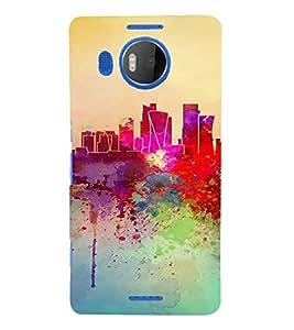 PrintVisa Colorful Modern Art Design 3D Hard Polycarbonate Designer Back Case Cover for Nokia Lumia 950 XL
