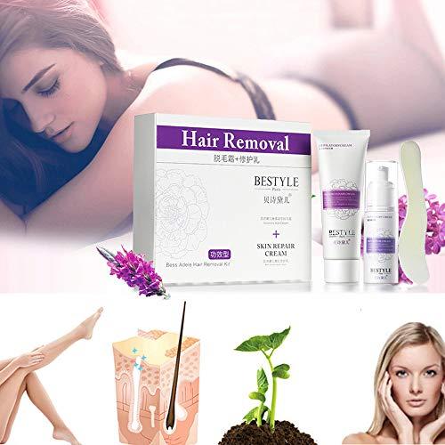 Haarentfernung Cremes Mit Repair Milch Mild Antiallergische Enthaarungsmittel Epilierer Enthaarungscreme Haarentfernung Enthaarungsmittel Schmerzfreie Entfernung Körper Gesicht für Frauen und Männer