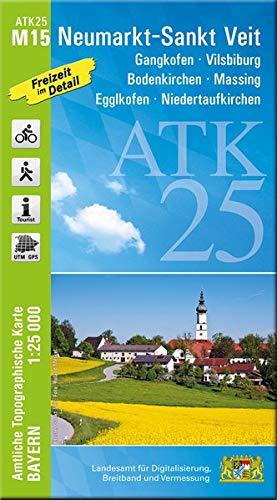 ATK25-M15 Neumarkt-Sankt Veit (Amtliche Topographische Karte 1:25000): Gangkofen, Vilsbiburg, Bodenkirchen, Massing, Egglkofen, Niedertaufkirchen (ATK25 Amtliche Topographische Karte 1:25000 Bayern)