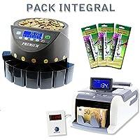 Ofertas especiales:Pack integral con contador de billetes, de monedas y 3 rotuladores detectores