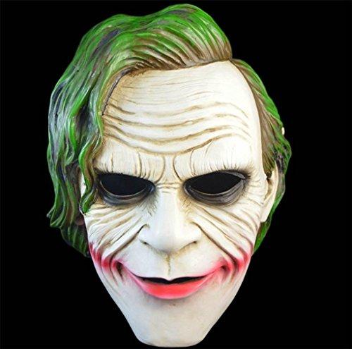 Kostüme Weibliche Mörder (DZW Leuchtend Maske Männliche und weibliche Geister Halloween Clown Kleidung Zombie passt Gevatter Tod Maske Terror Teufel In erwachsenen Vampir High qualityModellierung)